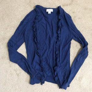 Women's LOFT ruffle cardigan